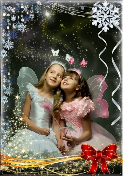 Christmas photoframe - A gentle sparkle of winter