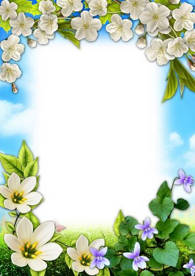 Women's spring frame - Among spring flowers