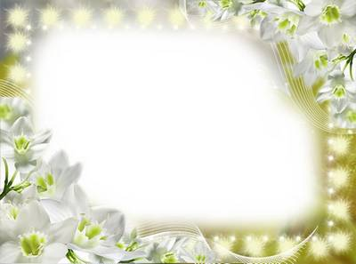 Romantic frame for Photoshop - White fragile rays of hope