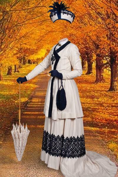 Autumn Patterns for Photoshop - Noble lady
