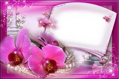 Frame for photoshop - Flower Rhapsody