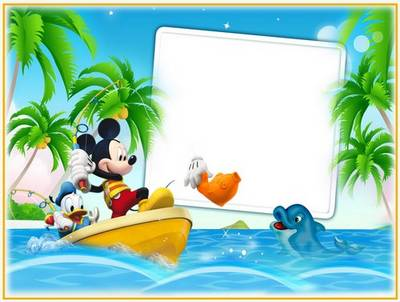 childrens frame mickey mouse and his friends - Mickey Mouse Photo Frame