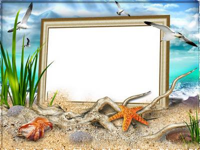 Frame for photoshop - Sea etude