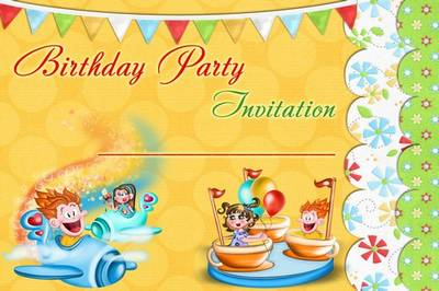 Birthday invitation psd file - Fun party