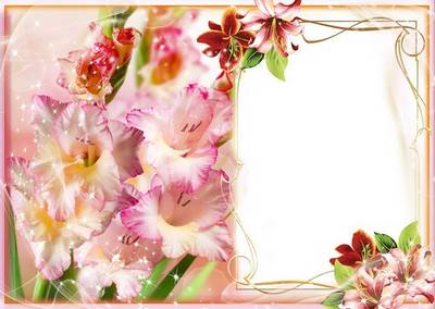 Congratulatory Frame for Women  - Gladioluses and Gentle Lilies