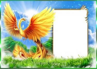 Frame for photoshop - Fire bird