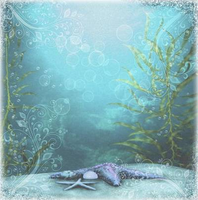 Marine backgrounds for creative design works, collages