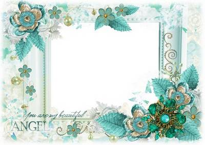 Romantic Photoshop frame psd file - You are my beautiful angel