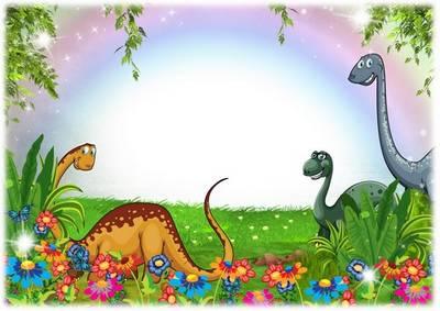 Children Photoshop framework PSD file - Dinosaurs