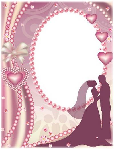 Wedding frame for photo - Love and tenderness