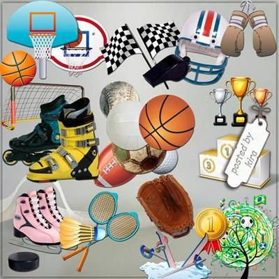 Sports equipment png - 92 PNG images balls, skates, medals, rackets and more on a transparent background