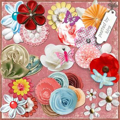 Clipart PNG images - 221 PNG Elements flowers for design on a transparent background