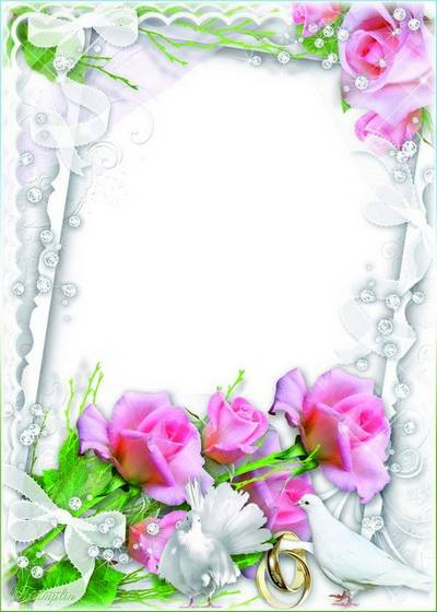 Wedding Frame for Photoshop - Council and love you at all times