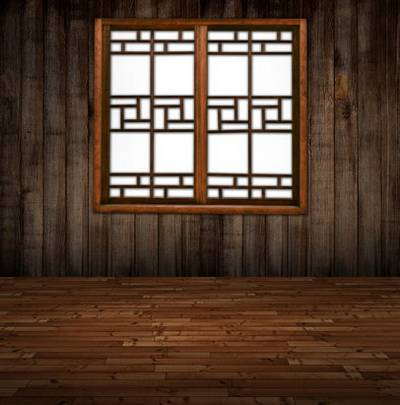 Window in room (transparent background)