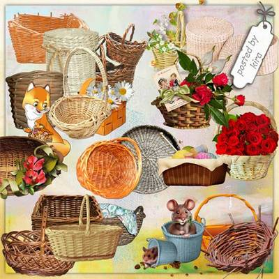 Clipart PNG Images - 162 PNG Baskets, baskets with flowers on a transparent background