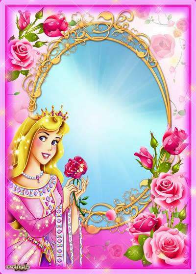 Child's frame for photoshop - Princess with a rose