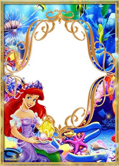 Child's frame - Princess Ariel in a submarine reign