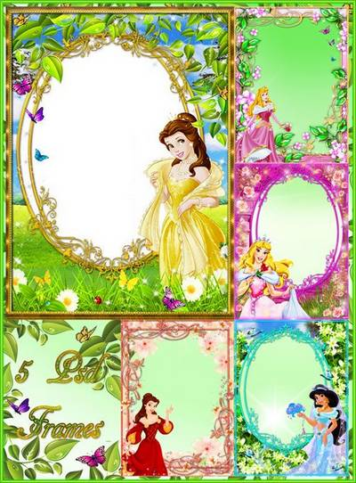 Child's frames for photoshop - Wonderful princesses from a fairy-tale