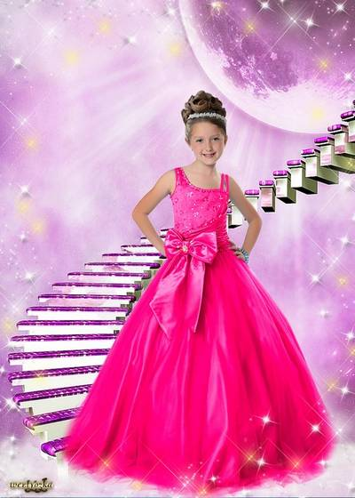 Child's templates - Little ladies in delightful dresses