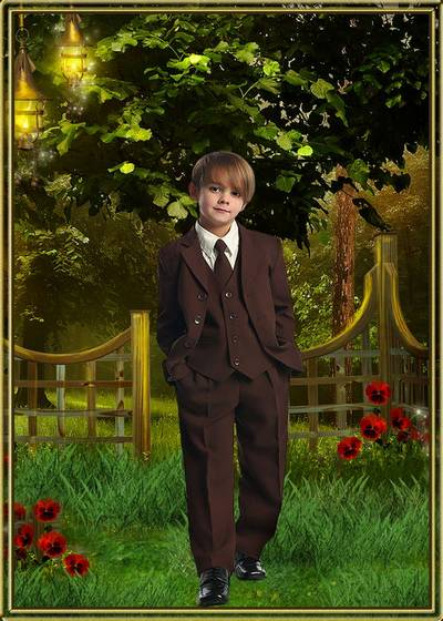 Child's template for a boy is the Stylish classic suits