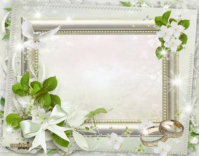 Wedding frame for Photoshop - Reciprocity and infinite sense