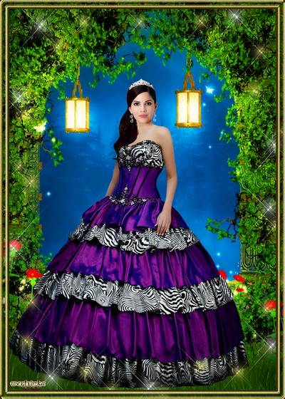 Woman template is the Chic dress of lilac color