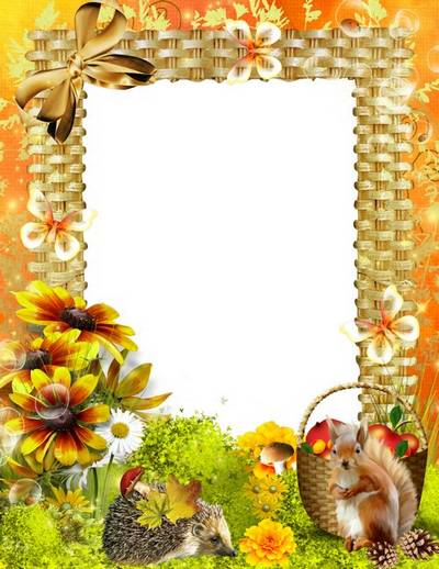Frame for Photoshop - Autumn has come to us with bright colors