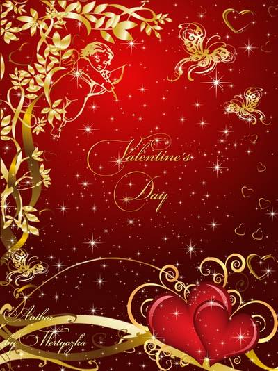 PSD Source Valentine's Day - Valentine's Kiss