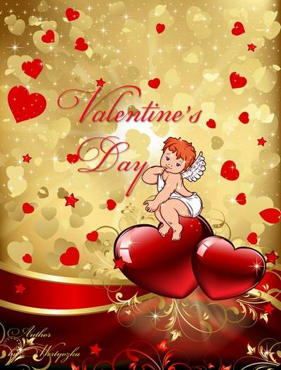PSD Sources for Valentine's Day - Hearts, valentines, roses and little angel