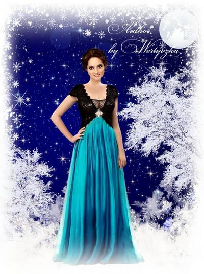 Luxury women's dresses - Template for Photoshop