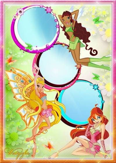 Children frame for Photoshop - Little fairy of the Winx Club
