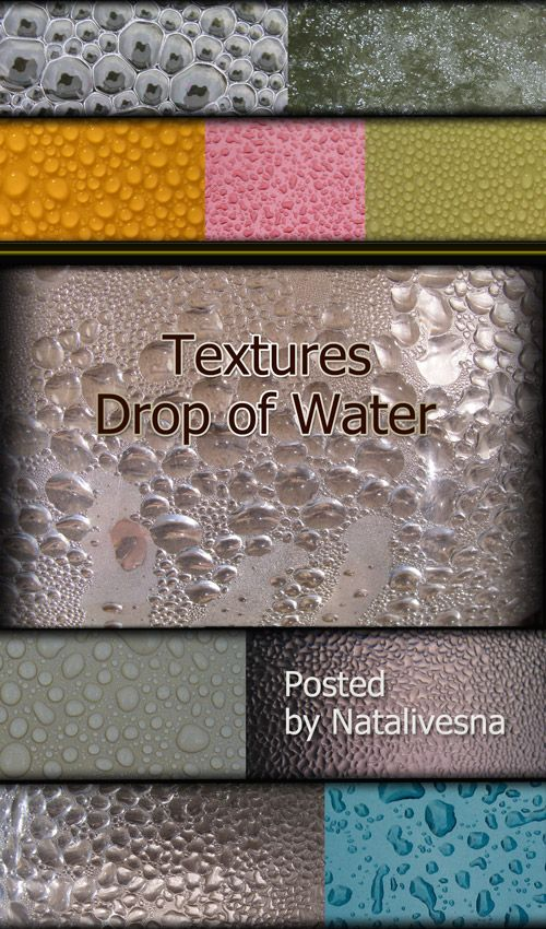Water Drops - Photoshop Textures, 29 JPEG, 2560x1800 px ( free textures, free download )