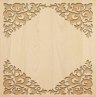 Carved wooden frames