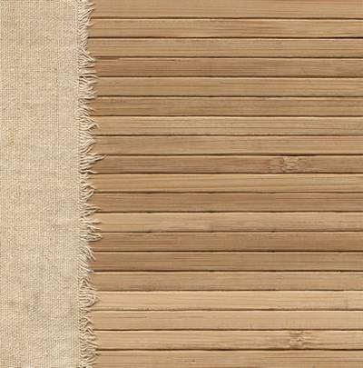 Old Fabric in Wooden Wall