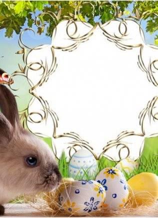 Set of children's frames for Easter - Easter Christ loved by all