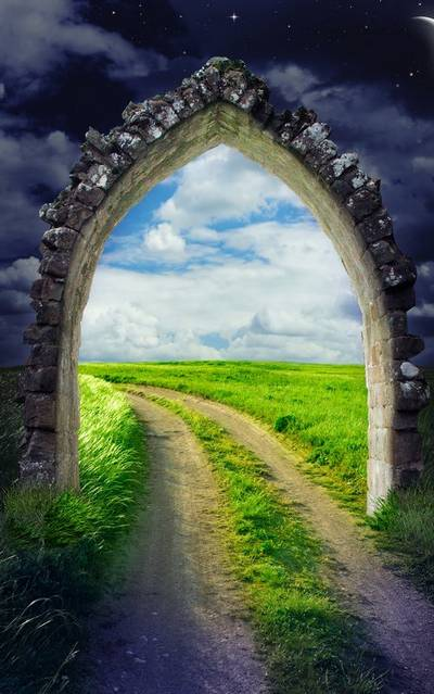 A selection of backgrounds with arches for Photoshop