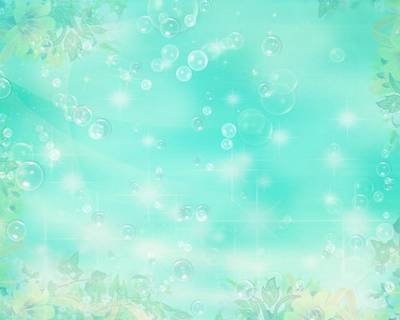 A set of spring flower background with bubbles
