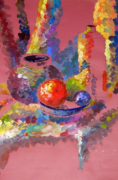 A collection of backgrounds - Painting in bright colors