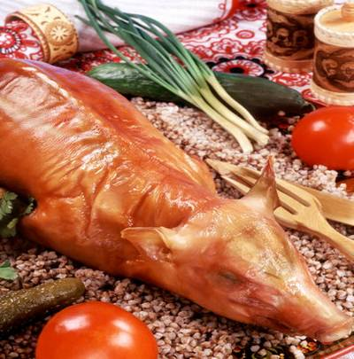 Traditions of Russian cuisine - well, very tasty clipart