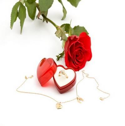 Raster Graphics on white background Valentine's Day