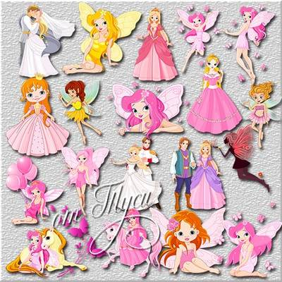 Dolls clipart PSD World of good fairies free download