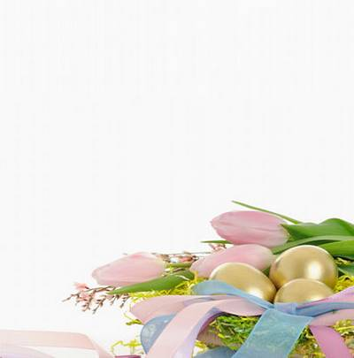 Easter graphics on a white background