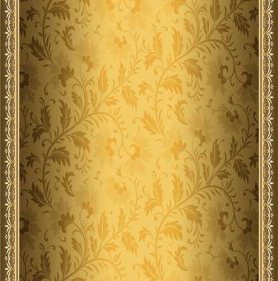 Backgrounds - shade of gold and bronze with the imposition of floral ornament