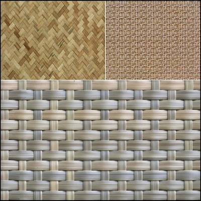 Set of wicker backgrounds
