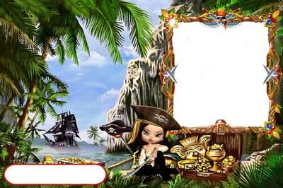 Fotoramochka children - Treasure Island