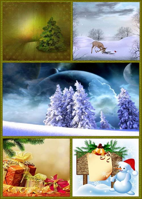 Winter and Christmas Backgrounds
