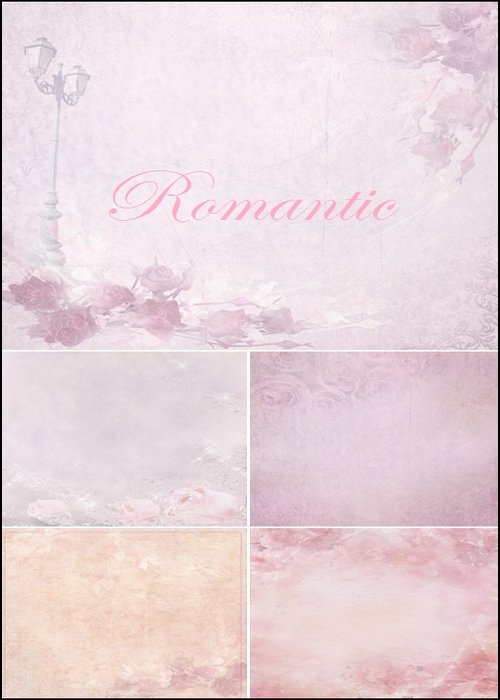 Romantic pink backgrounds for your creativity