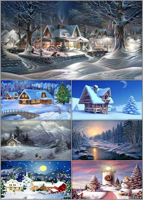Winter children backgrounds