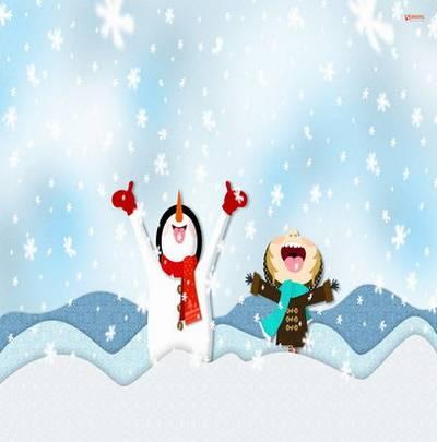 Winter children backgrounds
