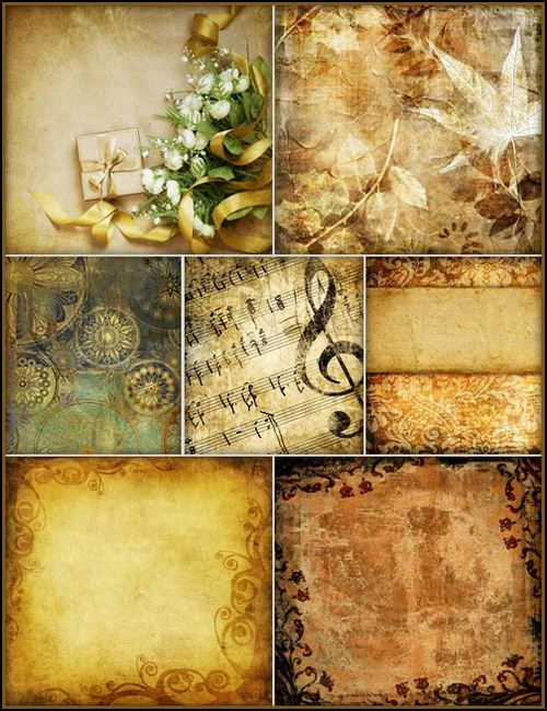 Vintage backgrounds for Photoshop